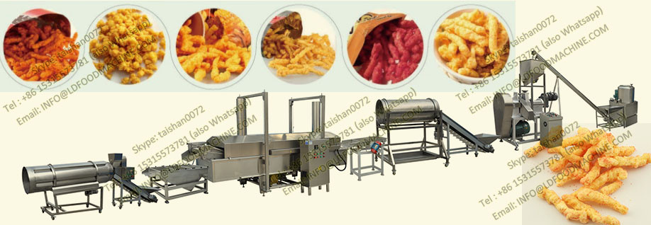 Automatic Cheetos/Kurkure Corn/Cheese Curls Snacks Nik Naks Making Machine