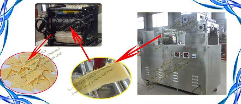 automatic singel screw extruder machinerys for make nachos