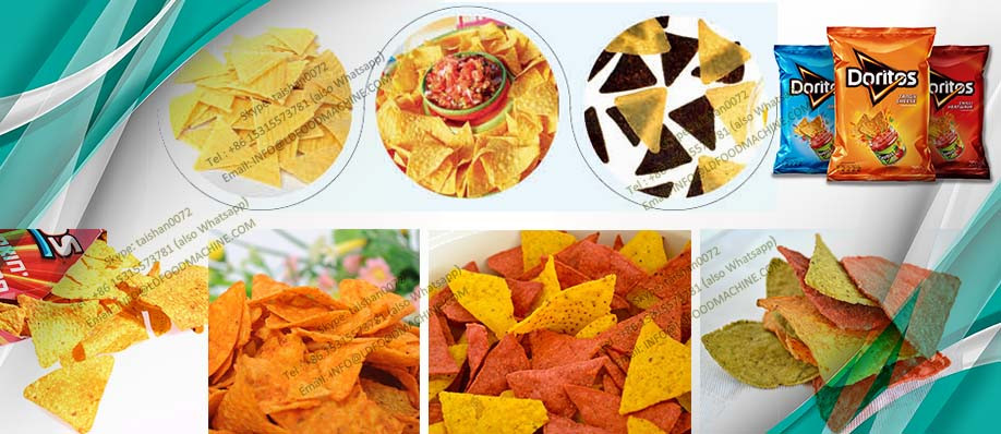 automatic fried doritos machinery, tortilla chips make machinery,