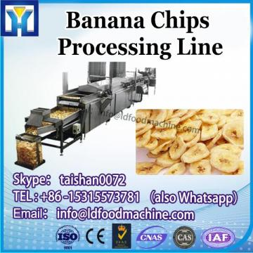 Gas Heating Fried Cassava Potato Chips Processing  Production Line