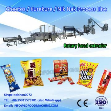 Kurkure making extruder equipment fried snacks production line