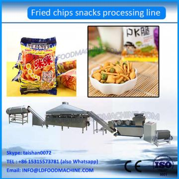Fully Automatic machinery Puffed Snacks Food Extruder Fried  Process Lin