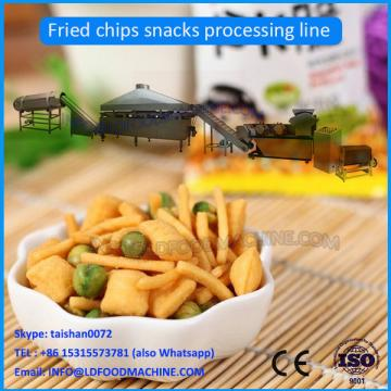 fried wheat flour chips snack extruder machinery
