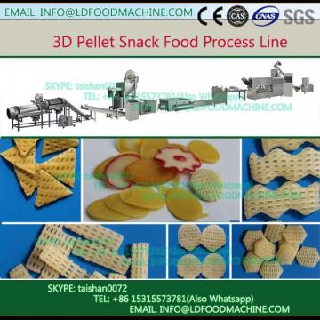 Wheat flour 3d pellet snack producton line/fried snack machinery