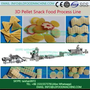 Single Screw Extruder 3D Chips Frying Food Processing Line