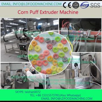 Inflating pellet single screw puffed  extruder mak corn circle food