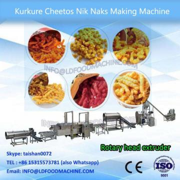 Industrial triangles chips/doritos/tortilla chips extruder with chip cutter