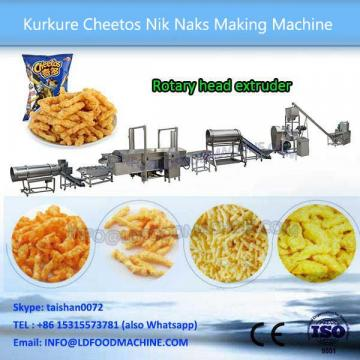 Automatic Chocolate Coating machinery Baked Corn Curls Fast Food Equipment