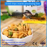 Low cost fried snacks production line/wheat flour snack chips machinery