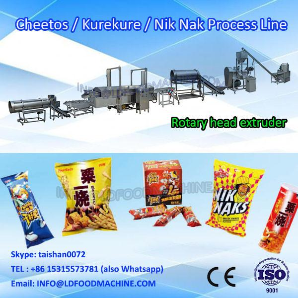 Fried Corn Snacks Nik Nak Kurkure Cheetos Making Machine #1 image