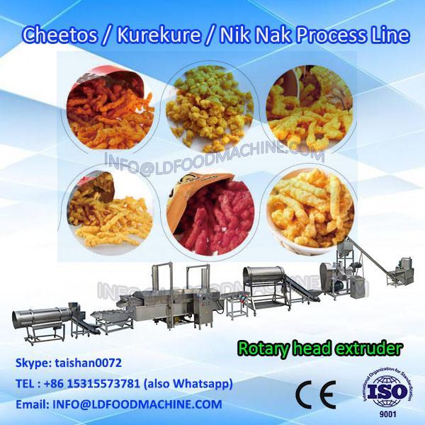 corn curl cheetos nik naks snack food extruder machine production line #1 image