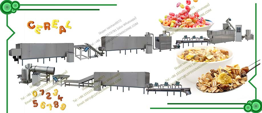 automatic cereal breakfast corn flakes processing plant