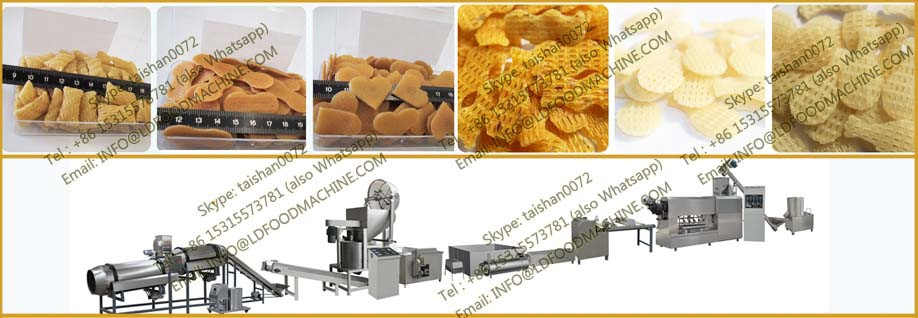 single screw extruder fried pellet chips  make machinery