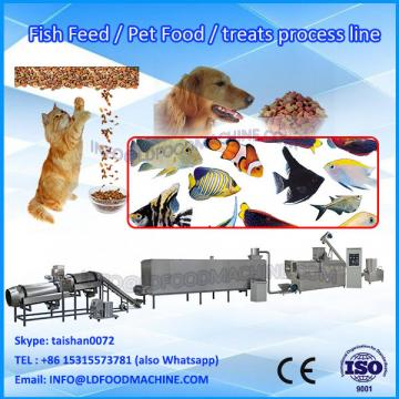 China stainless steel puffed dog feed producing extruder/poultry food make plant