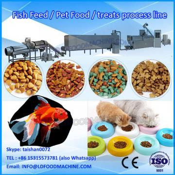China new desity automatic extrusion pet food make machinery/ pet feed milling