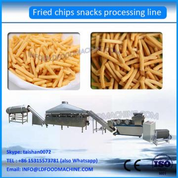 Twin Screw Extruded Fried Wheat flour snack Pellets make machinery