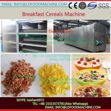 Twin screw extruder for corn flakes and cereal snack