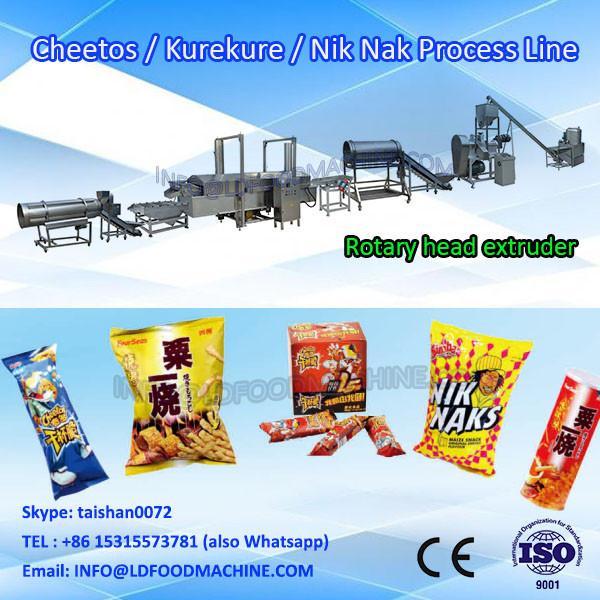 frying kurkure snacks food extruder making machine processing line #1 image