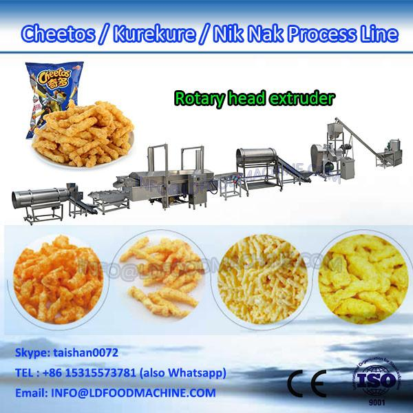Kurkure Snack Processing Line Cheetos Twisted Puffs Machine Rotary Head Extruder #1 image