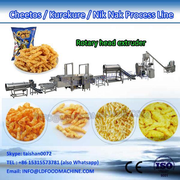 stainless steel cheetos kurkure nik naks extruder making machine #1 image