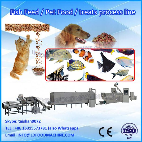 China automatic twin-screw dog food production equipment/poultry food make line #1 image