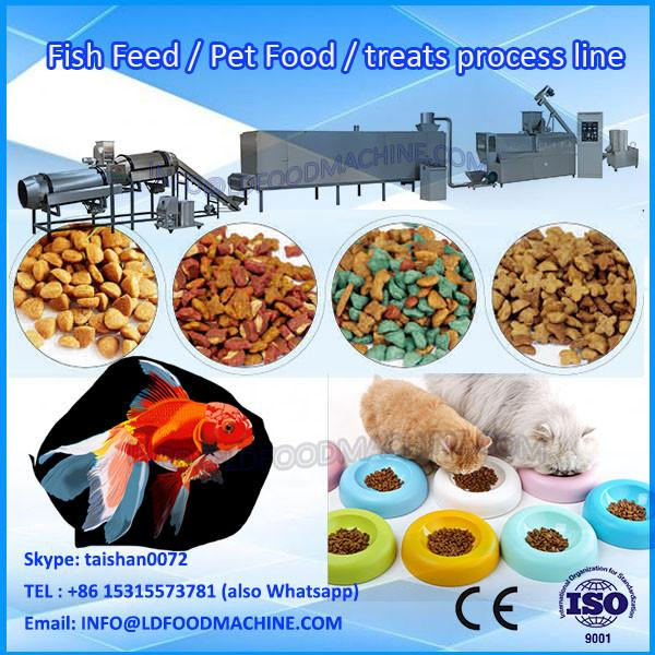 China stainless steel extruded cat feed producing plant /pet food machinery/poultry food make line #1 image