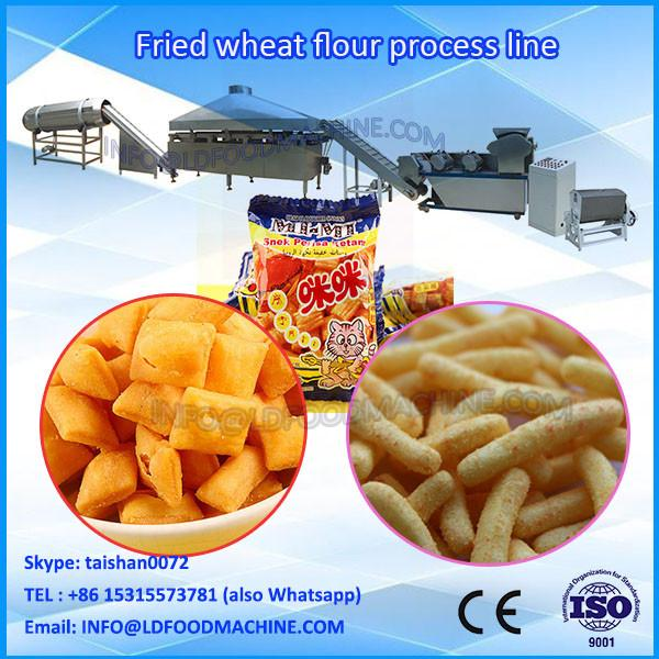 Fried Wheat Flour Snacks Bugles Rice Crust Line/Automatic Fried Snack Food Machine #1 image