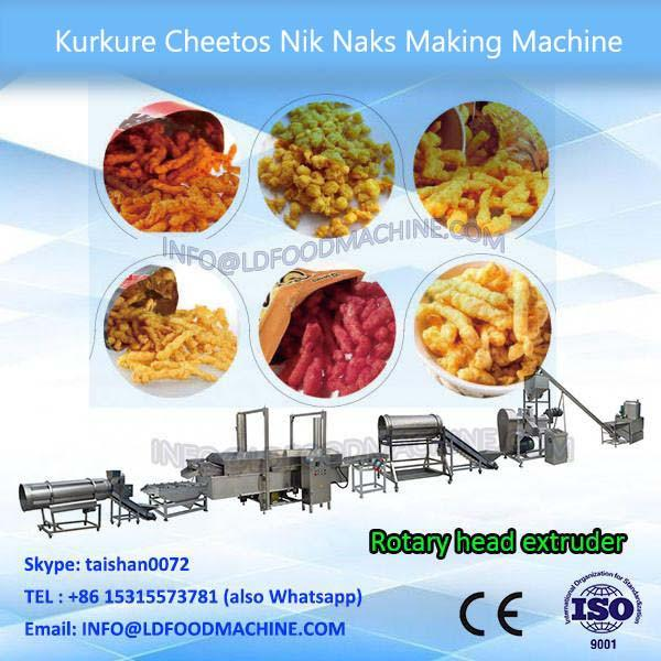 Automatic cheetos kurkure nik naks food snack extruder production line #1 image